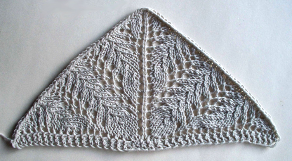 Vine Lace wedge, slightly less ugly version